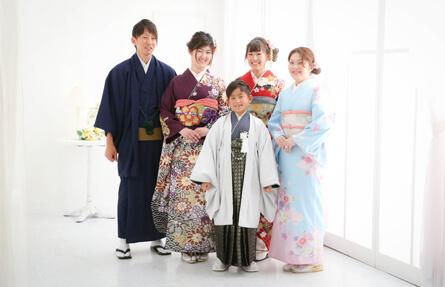 ハーフ成人式・十三参りのご家族撮影写真