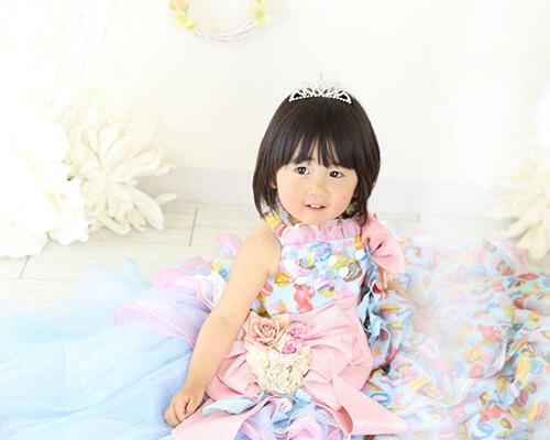 三歳の女の子。ドキドキの七五三