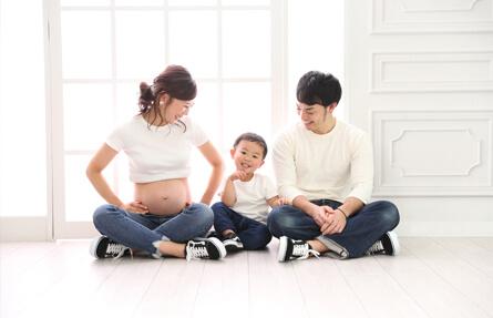 マタニティフォトのご家族撮影写真