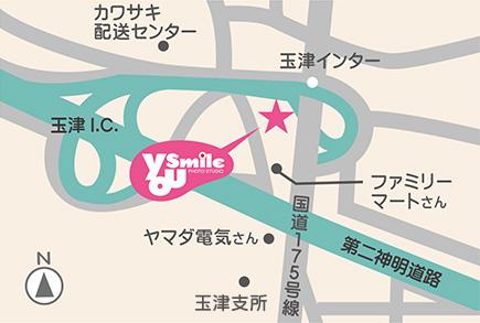 ユースマイル西神戸店の地図イラスト