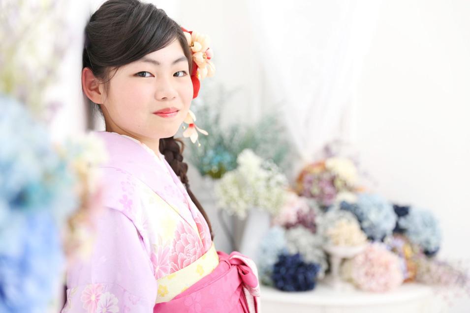 小学生卒業袴撮影のお写真(12)