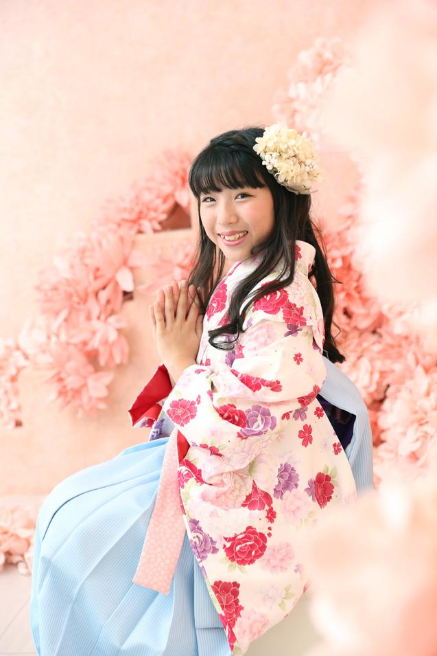 小学生卒業袴撮影のお写真(15)