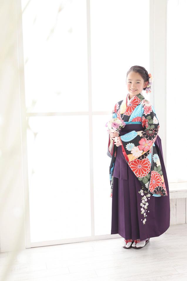 小学生卒業袴撮影のお写真(2)