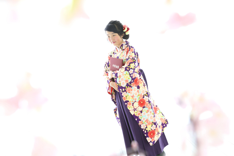 小学生卒業袴撮影のお写真(8)