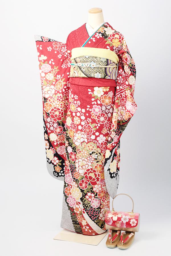 アンジュエール姫路店:成人式振袖赤-古-C2910