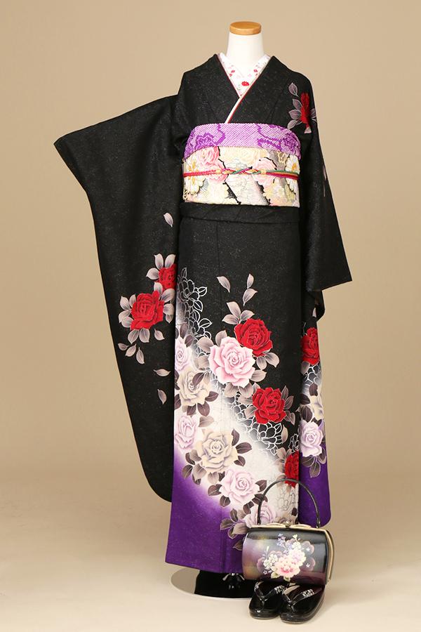 アンジュエール姫路店:成人式振袖黒-モ-C2805