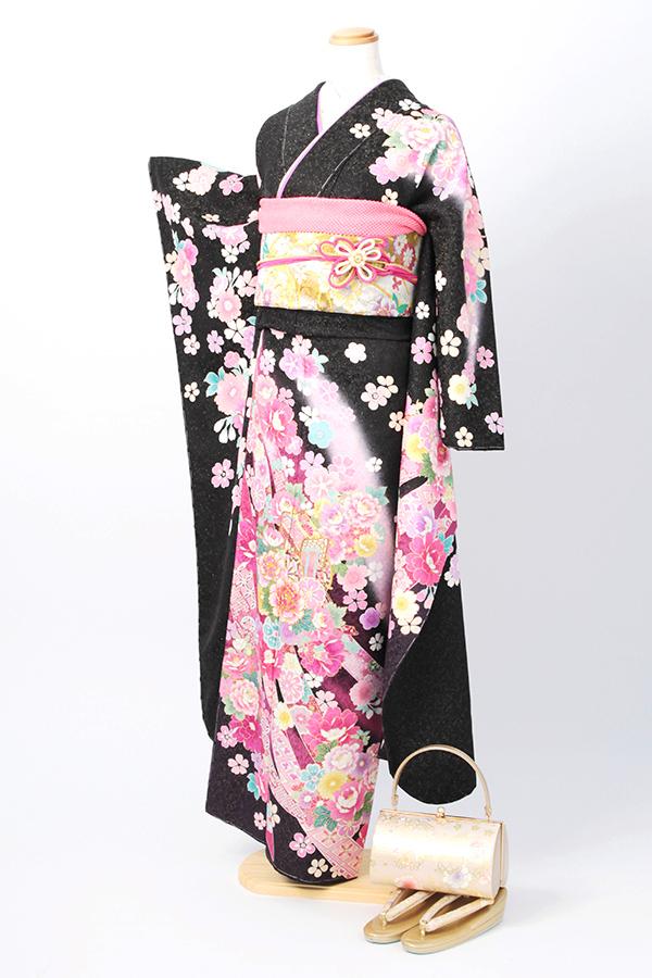 アンジュエール姫路店:成人式振袖黒-古-C2911
