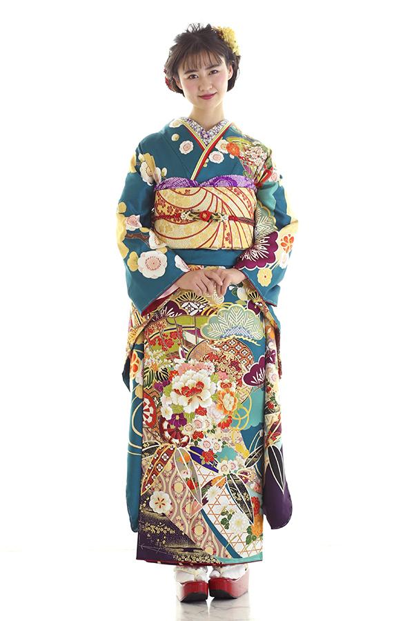 西神戸店:成人式振袖緑-古-C2990