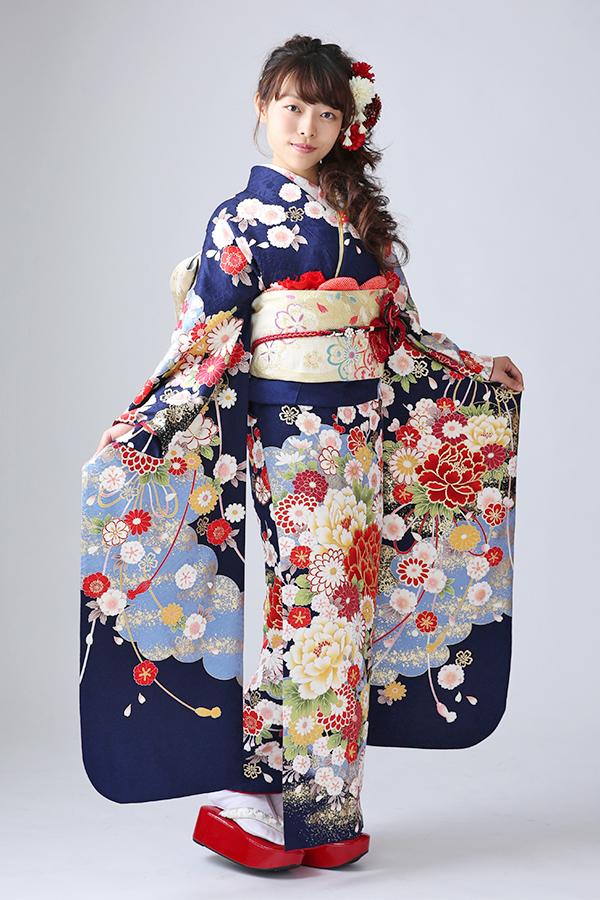 西神戸店:成人式振袖青-古-C360