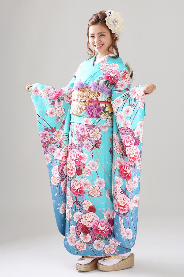 垂水店:成人式振袖青-古ロ-C2839