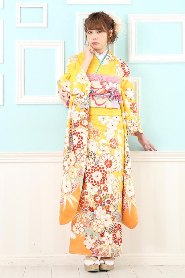 西神戸店:成人式振袖黄-ロレ-C3018