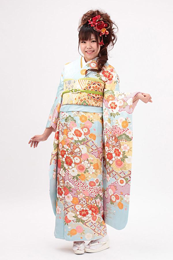 別府店:成人式振袖青-古-C605