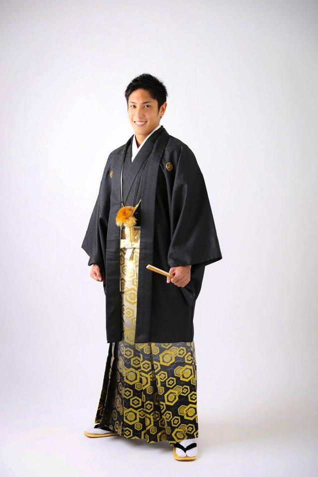 成人式男性袴の記念写真撮影03