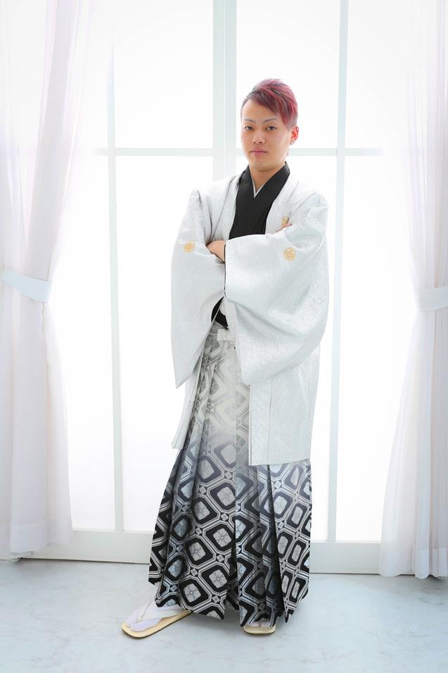 成人式男性袴の記念写真撮影05