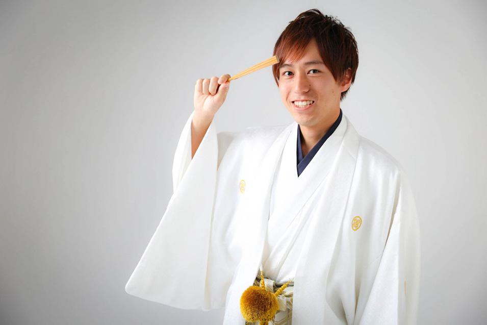 成人式男性袴の記念写真撮影07