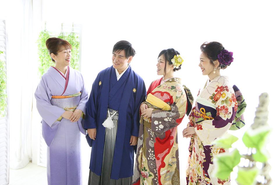 成人式男性袴の記念写真撮影09