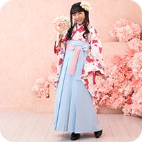 ロングスカートタイプの袴で安心